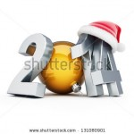 stock-photo-happy-new-year-santa-hat-d-illustrations-on-a-white-background-131080901