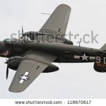 stock-photo-monroe-nc-november-world-war-ii-b-mitchell-bomber-performing-during-warbirds-over-monroe-118670617