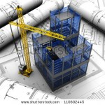 stock-photo-new-modern-project-of-building-with-crane-110602445