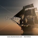 stock-photo-old-ship-with-sails-in-the-mist-95249521