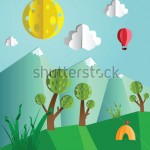 stock-photo-paper-pop-up-beautiful-landscape-snow-peaks-trees-and-tourist-s-tent-110058143