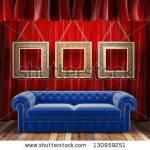 stock-photo-red-fabric-curtain-with-frames-and-sofa-130959251