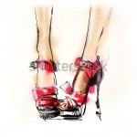 stock-photo-shoes-hand-painted-fashion-illustration-150087005
