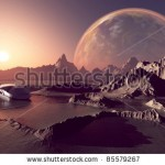 stock-photo-spacecraft-over-the-mountainous-terrain-of-the-planet-85579267