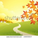 stock-vector-autumn-landscape-vector-background-150055637