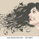 stock-vector-beautiful-woman-looking-up-with-flowing-abstract-hair-with-butterflies-72173623