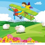 stock-vector-boy-flying-over-a-field-with-sheep-100500217