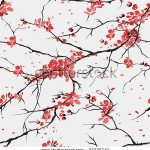 stock-vector-cherry-or-sakura-seamless-pattern-background-93225340