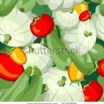stock-vector-seamless-wallpaper-for-holiday-packages-featuring-ripe-tomato-vegetable-zucchini-squash-124902692