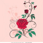 stock-vector-stylish-ornament-rose-valentine-s-day-background-element-for-design-vector-illustration-125465330