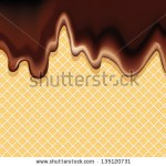 stock-vector-vector-background-of-a-delicious-dessert-dark-chocolate-flowing-on-a-crispy-wafer-135120731