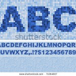stock-vector-vector-font-made-of-truelike-mosaic-with-background-blue-as-in-swimming-pool-71064607