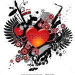 stock-vector-vector-illustration-on-a-musical-theme-with-a-heart-18734467