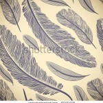 stock-vector-vintage-seamless-pattern-with-hand-drawn-feathers-83491918