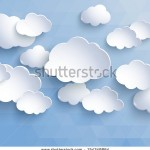 stock-vector-white-paper-clouds-on-a-blue-background-design-elements-vector-illustration-154349864