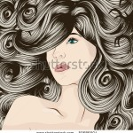 stock-vector-woman-s-face-with-detailed-hair-50686504