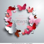stock-vector-wreath-made-of-white-red-and-pink-paper-butterflies-with-free-space-for-your-text-in-the-middle-131478827