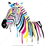 stock-vector-zebra-with-colored-stripes-100427665