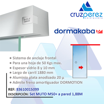 Dormakaba SET MUTO M50+ A PARED 1.88M 83610015099
