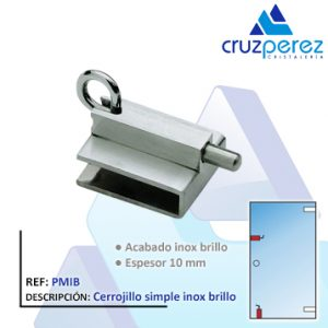 Cerrojillo simple inox brillo PMIB